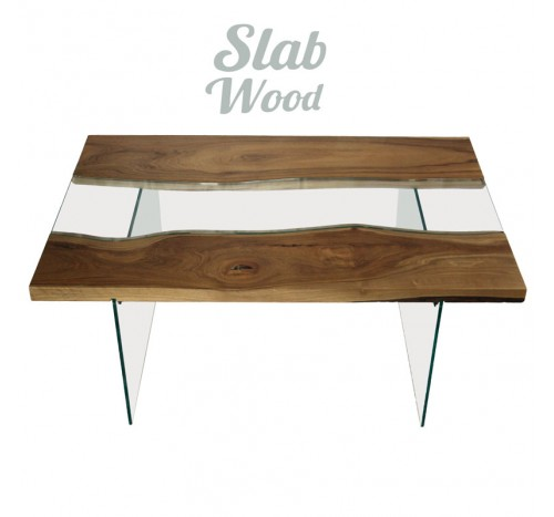 Loft-style Walnut Coffee Table №33