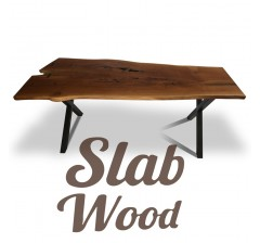 Slab Oak Table №129