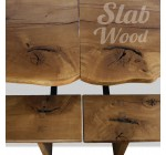 Eco-style Slab Oak Set - Table and Benches №96