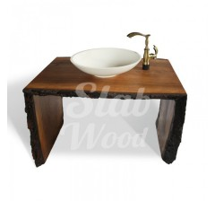 Eco-style Walnut Slab Washstand №71