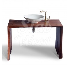 Eco-style Walnut Slab Washstand №13