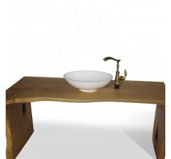 Eco-style Walnut Slab Washstand №72